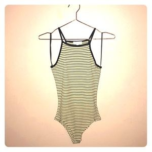Striped bodysuit